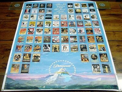 PARAMOUNT PICTURES 75th ANNIVERSARY (1987) Original Cinema Advertising Poster