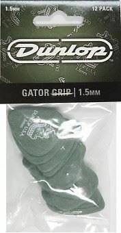 Jim Dunlop Gator Grip Guitar Picks 12 Pack - 1.5mm