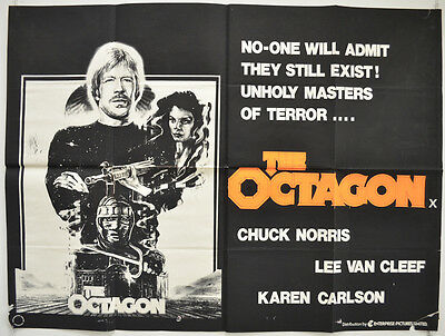 THE OCTAGON (1980) Original Quad Movie Poster - Chuck Norris, Lee Van Cleef