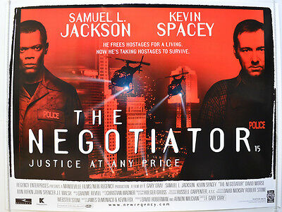 THE NEGOTIATOR (1998) Cinema Quad Movie Poster - Samuel L. Jackson, Kevin Spacey