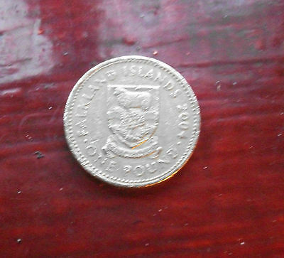Falkland Islands £1 Coin 2004 - Coat Of Arms