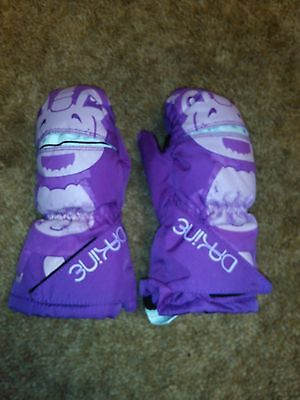 Girls Dakine Ski Snow Winter Pink Gloves Toddler Size 1T-3T