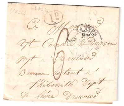 Business letter to Vannes france from 1835