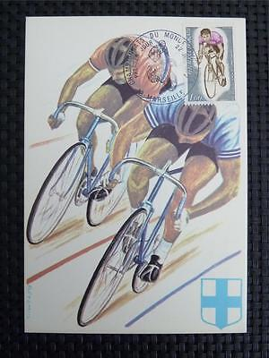 FRANCE MK 1972 SPORTS CYCLING RADFAHREN MAXIMUMKARTE MAXIMUM CARD MC CM c4870