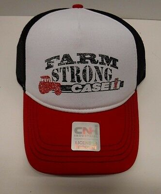 Case IH Farm Strong Red/White with Black Mesh Back Youth Cap