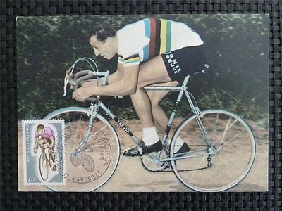 FRANCE MK 1972 SPORTS CYCLING RADFAHREN MAXIMUMKARTE MAXIMUM CARD MC CM c1553