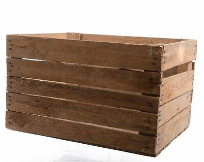 Vintage Used Large Wooden Apple Crate Storage Shelving Stacking Box Home Decor