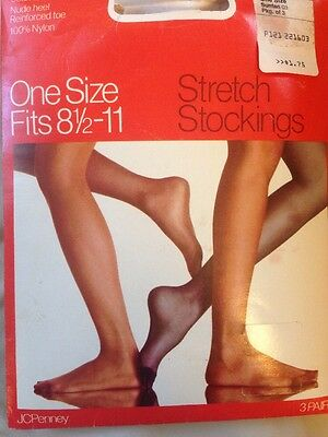 Vintage Gaymode Thigh High Seamless Stretch Stockings 8.5-11 JCPenney Lot 3 prs