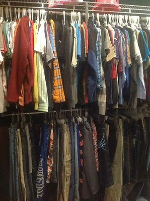 50 Pc Mens Clothing Shirts Pants Shorts Used S-3x Clothes Bulk Wholesale Lot