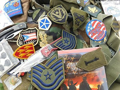 Vintage Military Knife Hat Pin Patch Belt Strap Wings First Aid Kit + More Lot