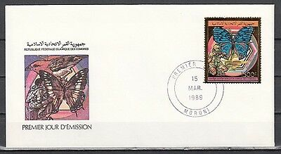 + Comoro Is, Scott  cat. 692. Scout & Butterfly issue on a First day cover.