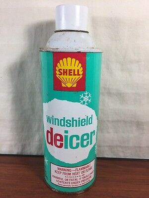 Vintage NOS 1960's Shell Gas & Oil Collectible Advertising Windshield Deicer Can