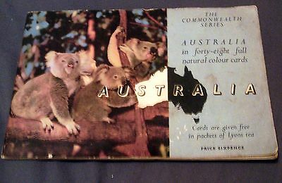 Complete Collection Of 48 Lyons Tea Cards In Album, Australia.