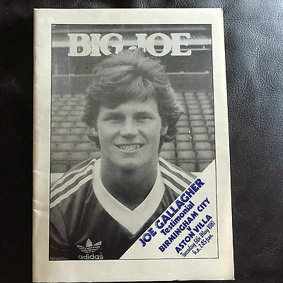 BIRMINGHAM CITY v ASTON VILLA 1980-81 JOE GALLAGHER TESTIMONIAL
