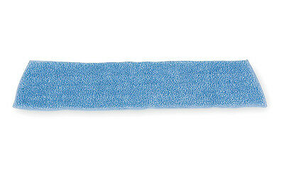 "Rubbermaid Commercial FGQ40920BL00 Microfiber Damp Mop Pad, Blue, 18"" x 5"""
