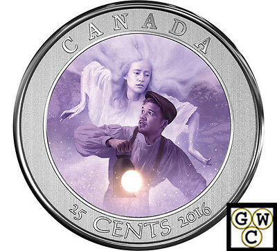2016 'Bell Island - Haunted Canada' Lenticular 25-Cent Coin (17775)