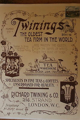 Twinings Tea poster with stamp SG1088