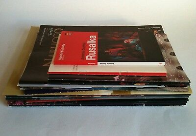 Bundle Of 22 OPERA/OPERATIC THEATRE PROGRAMMES & SOME USED TICKETS Most UK VGC