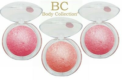 Body Collection Baked Blusher Makeup Shimmer Blush Rose Peach Pink