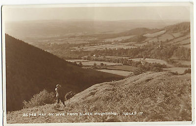 Postcard Hay On Wye From Black Mountains Herefordshire Judges