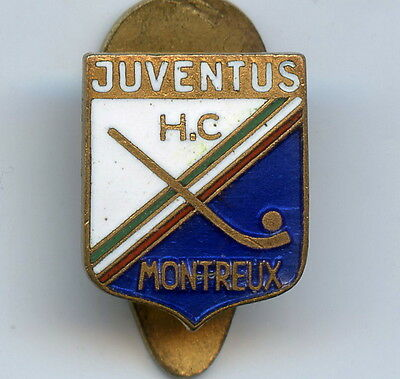 Italy Sport Badge Juventus Montreux Hockey with a ball Nice Grade !!!