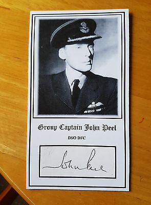 RAF Battle of Britain fighter ace G/C John Peel DSO DFC signed (RARE).