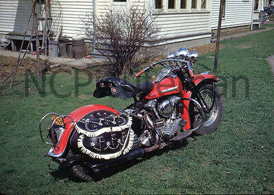 "1947 Harley Davidson EL Knucklehead NEW 5"" x 7"" Photo from 1948 Kodachrome slide"