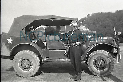 """Dodge WC-56 Command Car 51st Squadron Constab 8""""x12"""" photo from 1940's negative"""