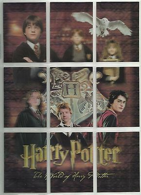 2007 Harry Potter World of 3D: Series 1 Complete Set of 9 PUZZLE Cards (PZ1-PZ9)