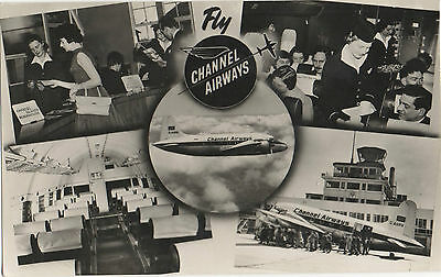 Postcard Fly Channel Airways Southend Airport Woolcott Southend On Sea