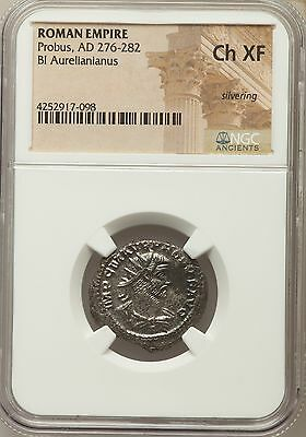 Roman Empire Probus, AD 276-282 Bl Aurelianianus NGC Ancients Ch XF Silvering
