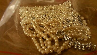 vintage pearls and beads job lot