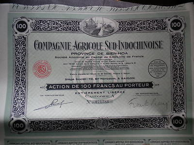 SAIGON - CPIE AGRICOLE SUD INDOCHINOISE - top deco - coupons complets