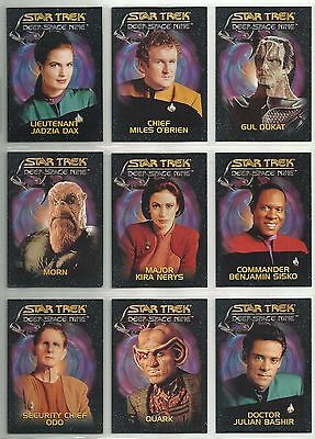 "1993 Star Trek: Deep Space Nine PLAYMATES ""Complete Set"" of 9 Promo Cards NO #'s"