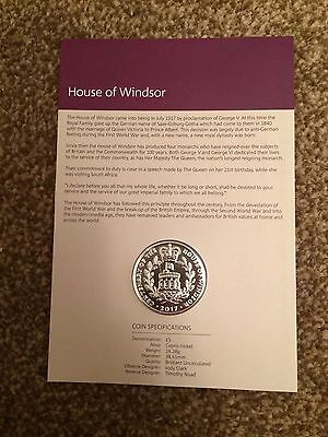2017 Five Pounds £5 100th Anniversary of The House of Windsor Coin BU Royal Mint