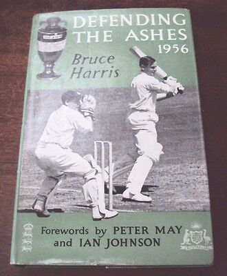 """Vintage book """"Defending The Ashes 1956"""" by Bruce Harris. 1956."""