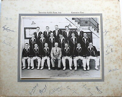 Australia To England 1953 Official Signed Photograph