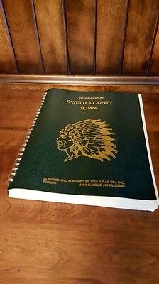 "1976 Fayette County Iowa Bicentennial Pictorial Atlas 10"" X 13"" Very Neat!"