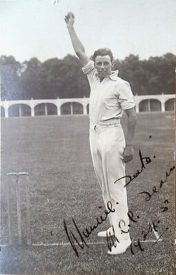 Maurice Tate Sussex & England Cricket Signed Photograph