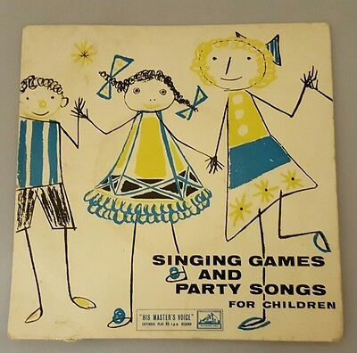 Singing Games and Party Songs for Children 45 rpm 7 inch Record