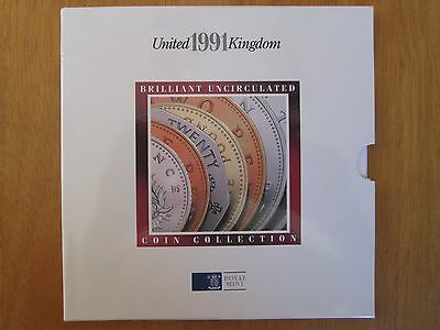 Royal Mint Brilliant Uncirculated Coin set Collection 1991
