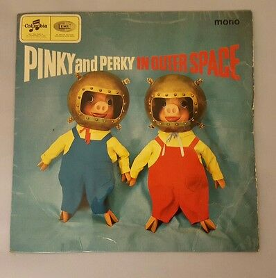 """Pinky And Perky In Outer Space 7"""" 45 Rpm Single Children's Classic Collectable"""