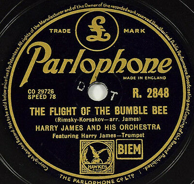 Schellackplatte - Harry James - The Flight Of The Bumble Bee - gramophone record