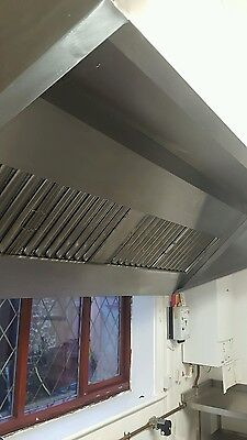Commercial Kitchen Extraction Canopy     2400x1300 complete with extraction fan