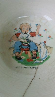vintage ceramic childs bowl Little Jack Horner
