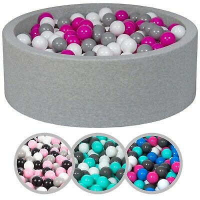 Soft Jersey Baby Kids Children Ball Pit with 450 balls, Gift