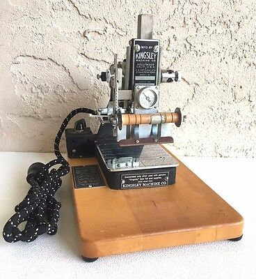 Kingsley Machine Model M-50 Hot Foil Stamping Machine Beautiful Condition