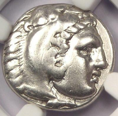 Alexander the Great III AR Drachm Coin 336-323 BC - Certified NGC VF - Rare!