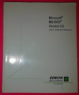 Microsoft MS-DOS – Version 5.0 – User's Guide and Reference manual