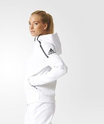 Women's ADIDAS ZNE White Hoodie - Size Large